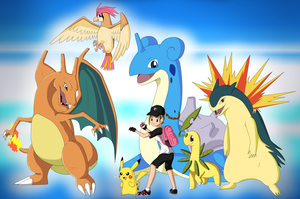My first Pokemon Team by IcelectricSpyro