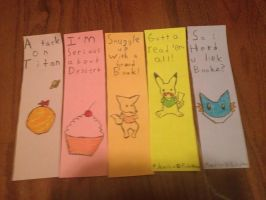 Bookmarks I'm Selling IRL by Pikaian