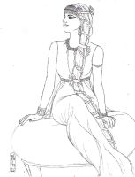 Ancient Egyptian Rupunzel LineArt by MyWorld1
