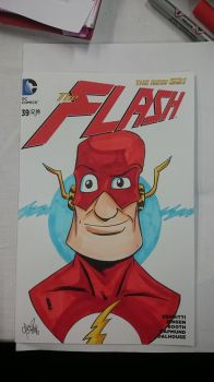 The Flash Blank Cover Commission by DerFanboy