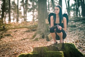 Black angel waiting for... by chuckphotography