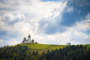 Church on a Hill by StevenDavisPhoto