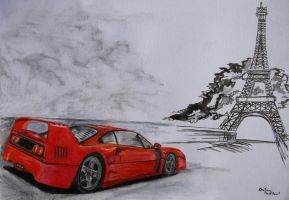 F 40 in Paris by kutiska