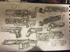 Omolon-inspired weaponry! (draft 1) by HaruAxeman