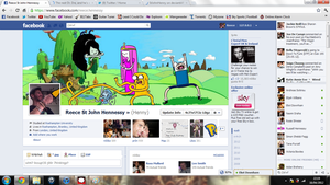 Adventure Time Facebook by StJohnHenny
