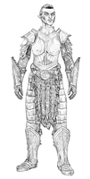 orsimer steel plate armor by swept-wing-racer