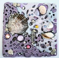 Lilac Sea foam Mosaic Tile by MandarinMoon