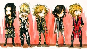 The Gazette - Guren     chibiz by Wik86