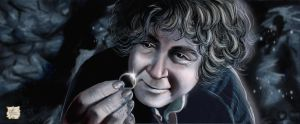 Bilbo finds the One Ring by Luaprata91