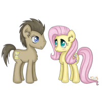 Whooves and Fluttershy by FinnishGirl97