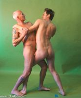 Nude Fighting Men 3 by TheMaleNudeStock