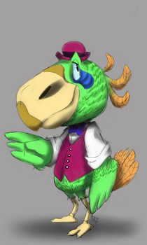 Parrot Character Concept by GIRLYGAMER1998