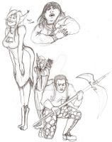 Sketches for August 23 2013 by Anomalies13
