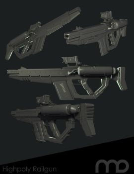 Highpoly Railgun by dawberdesigns