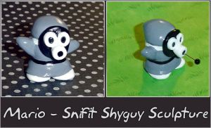Mario Snifit Shyguy Sculpture by YellerCrakka