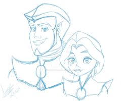 The royal couple WIP by TheSpaceCowgirl
