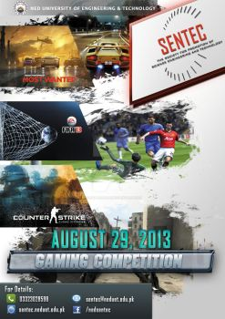 Flyer:SENTEC Gaming Competition by faisalhasan