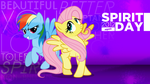Rainbow Dash and Fluttershy - Spirit Day 2012 by AdrianImpalaMata