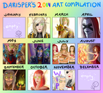 Darisper's 2014 Art Compilation by Darisper