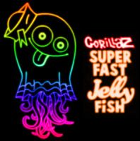 Superfast Jellyfish neon sign by tyrblue