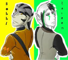 Bobbi and Raveen: Cover Page by Leopard-Gryphon