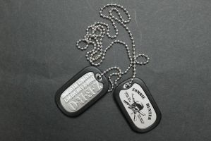 Zombie Hunter Dog Tags by sabresteen