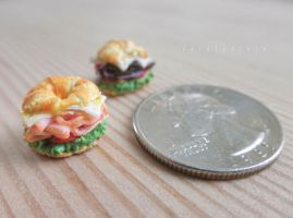 1:12 clay croissant sandwiches by FatalPotato