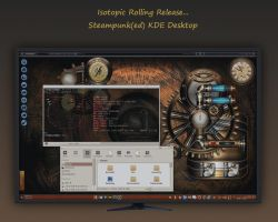 Isotopic Rolling Release - Steampunk(ed) in KDE by rvc-2011