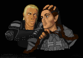 Zevran and Alleyana by Aroihkin