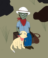 A Ghoul and His Dog by Stitchlovergirl96