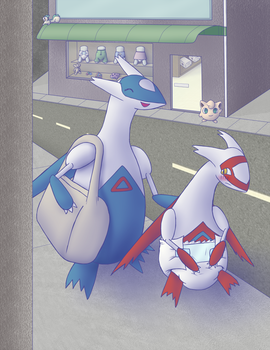 Commission: Latias and Latios by Hira-Dontell