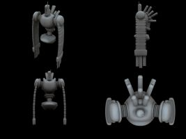 WIP Robot once again by animepimp