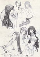 - COMMISSION - Kaylane Sketchpage - by ooneithoo
