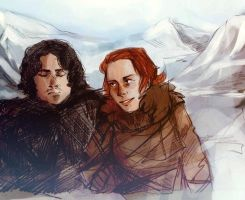 Snow and Ygritte by GlykoNat