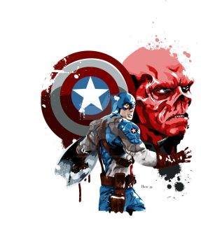 Captain America by hansbrown-77