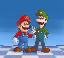 Mario and Luigi by MegaRyan104