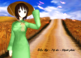 [MMDxAPH] - Miss Vietnam Download by Hebigami-Okami-77