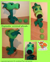 Repeater plant crochet plush by Sasophie