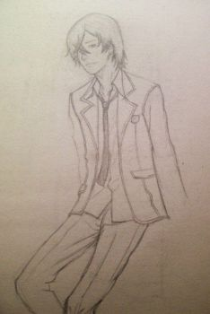 Character Sketch from Guilty Crown by ScissorsSenshi