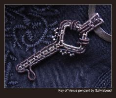 Key of Venus pendant by bodaszilvia