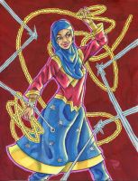 Wonderful Women 1: Muslim Wonder Woman by ibroussardart