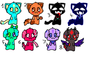 1-2 POINT ADOPTABLES!!*all gone by spottedtail223