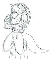 Jon Talbain Uncolored by Werewolf-Archangel
