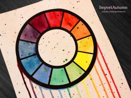 Daily Drawing #28 - Geometric Colour Wheel! [Vlog] by ImportAutumn