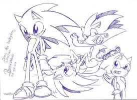 .:Sonic The hedgehog_Doodles:. by PhoenixSAlover