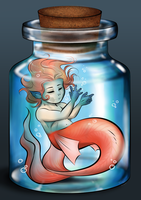 Baby Mermaid - MerMay Challenge by Elwensa