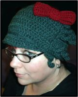 Hello Cthulhu Crochet hat by Xphronvistle