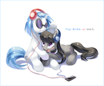 Vinyl Scratch and Octavia by tsurukinoki