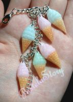 Pastel Swirl Ice Cream Bracelet by PetiteWishes