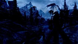 Skyrim! Night... by Vladisakov